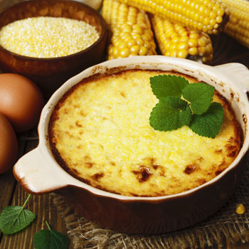 Oven-Baked Cheesy Polenta with Okra
