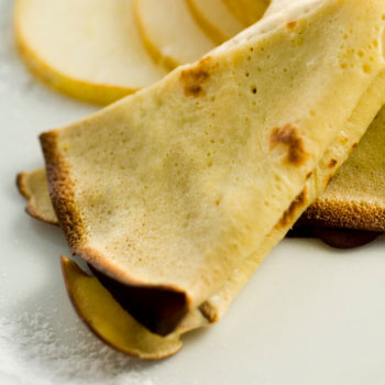 Blue Cheese and Pear Crepes