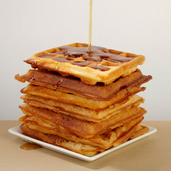 Waffle Sticks with Peanut-Cinnamon Syrup