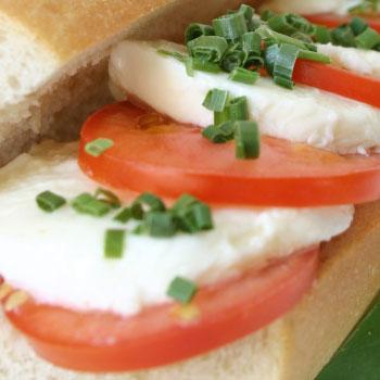 Tomato, Basil & Mozzarella Sandwich