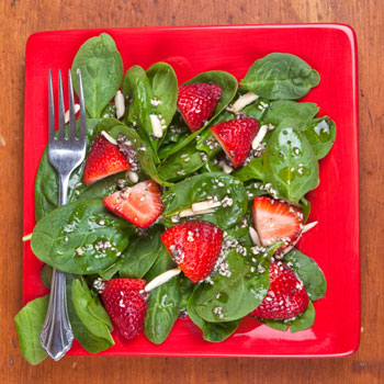 Sesame Strawberry Spinach Salad