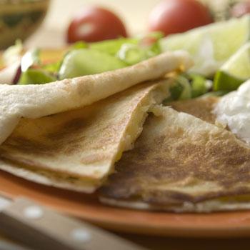 Basil & Cheese Tortilla Wedges
