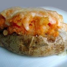 Stuffed Potatoes with Ham, Mushrooms, & Gruyere
