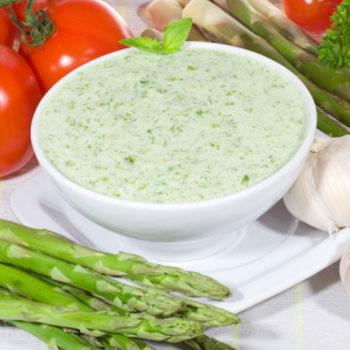 Creamy Asparagus in Garlic Sauce