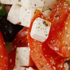 Mediterranean Tomatoes With Feta Cheese