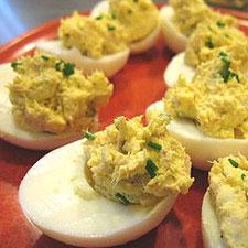 Tuna Diablo Eggs