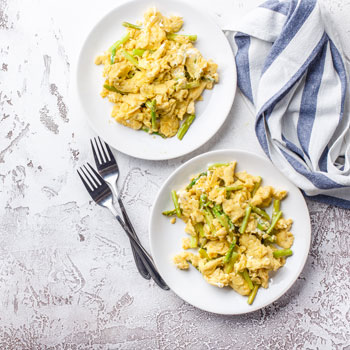 Scrambled Eggs with Asparagus
