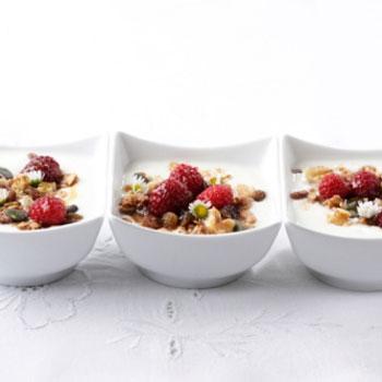Healthy Honey Granola with Yogurt