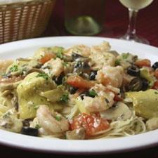 Shrimp, Artichoke and Tomato Pasta