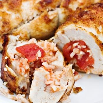 Tomato-Basil Stuffed Chicken Breasts