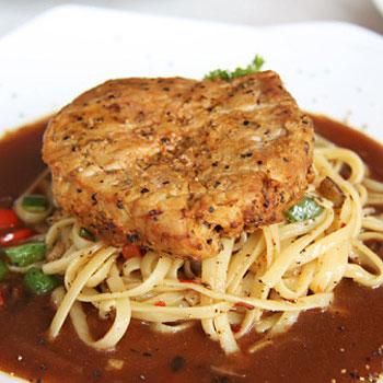 Spaghetti with Steak